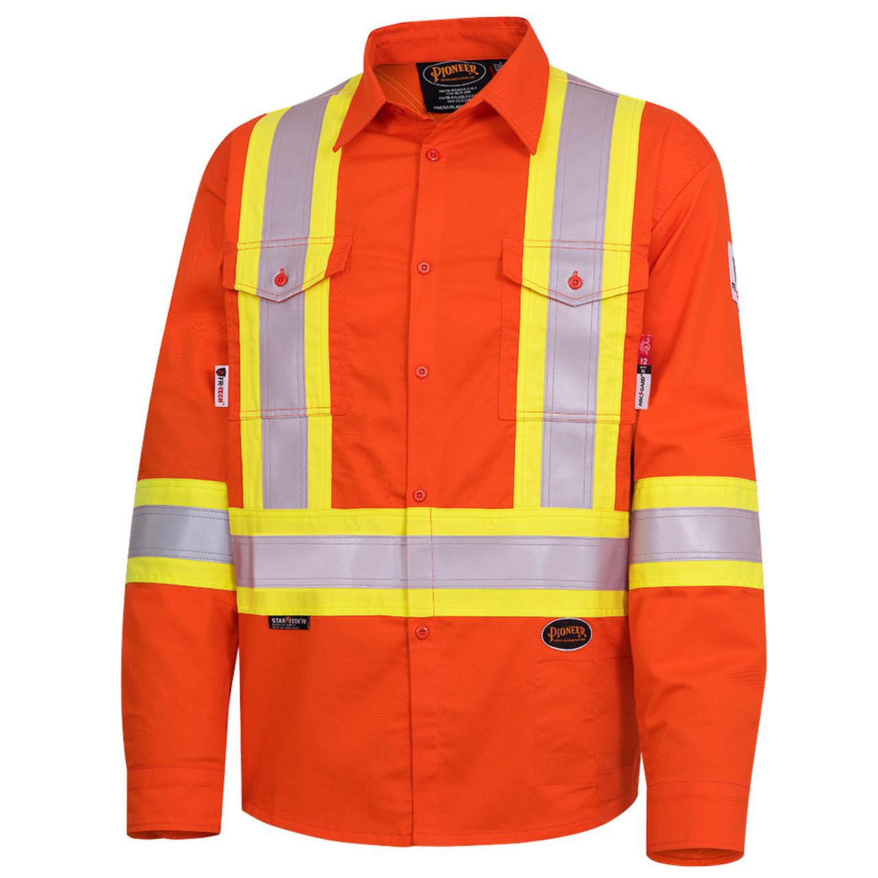 be5f7ce7bfce 7743 FR-Tech® Flame Resistant 7 oz Hi-Viz Safety Shirt - SafetyWear.ca