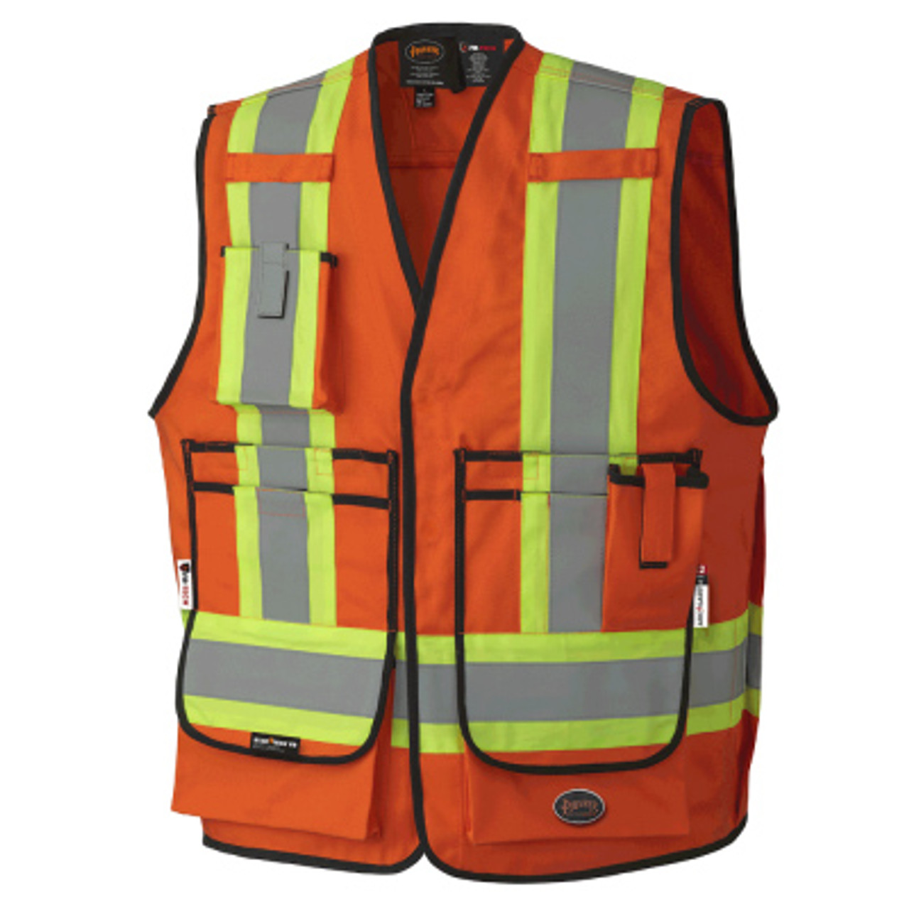 HI VIS Breathable Safety Jacket Coat Radio Loop D Ring High Visibility Workwear
