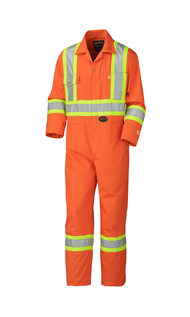 8e58a382993 Orange 5555 Flame Resistant Cotton Safety Coverall