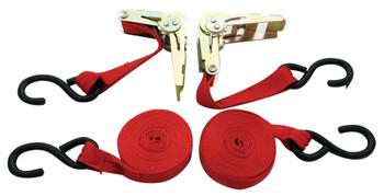 """RTD-1152 1"""" x 15' 1,500 lb Ratchet Tie Down Set"""