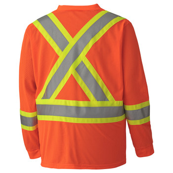 Safety Orange - 6984 Hi-Viz Traffic Long-Sleeved Shirt | Safetywear.ca
