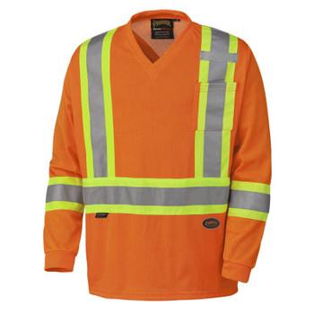 Pioneer 6984 Safety Long Sleeve Micro Mesh Shirt - Hi-Viz Orange | Safetywear.ca