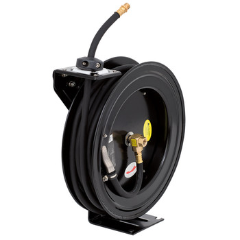 "I3850AS 3/8"" x 50' Retractable Air Hose Reel - Metal"