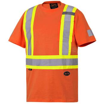 Pioneer 6978 100% Cotton Safety T-shirt - Orange | Safetywear.ca