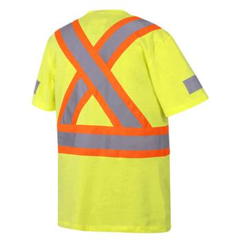 Pioneer 6980 100% Cotton Safety T-shirt - Hi-Viz Yellow/Green | Safetywear.ca