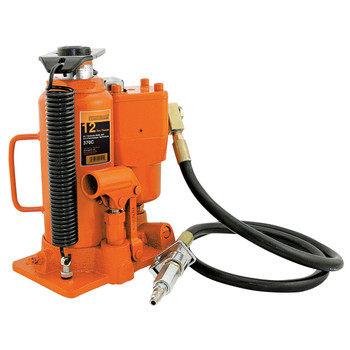 370C 12 Ton Air/Hydraulic Bottle Jack - Heavy Duty