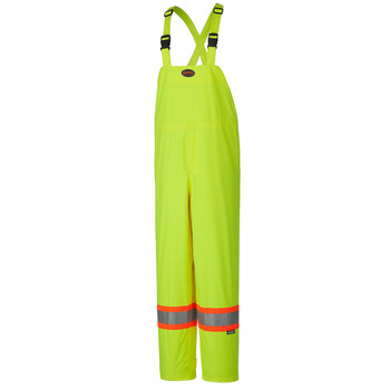 Yellow/Green Hi-Viz 150D Lightweight Safety Bib Pant | Safetywear.ca