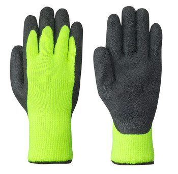 Yellow/Green/Black 5322 Seamless Knit Latex Glove | Safetywear.ca