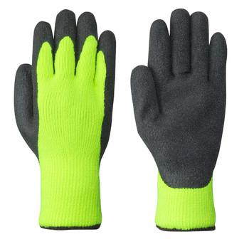 Yellow/Green/Black 5322 Seamless Knit Latex Glove | Safetywear.ca