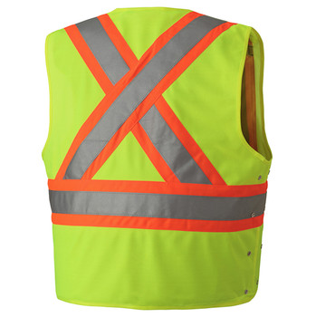 Safety Yellow, Back - 131 Hi-Viz Safety Vest | Safetywear.ca