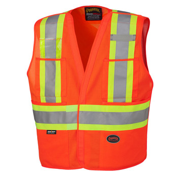 Orange - 6930 Hi-Viz Safety Tear-Away Vest | Safetywear.ca