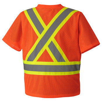 Hi-Viz Orange -   5994 Hi-Viz Traffic T-Shirt | Safetywear.ca