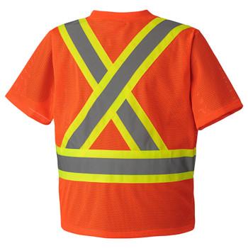 Pioneer 5994 Hi-Viz Traffic Mesh T-Shirt - Hi-Viz Orange | Safetywear.ca