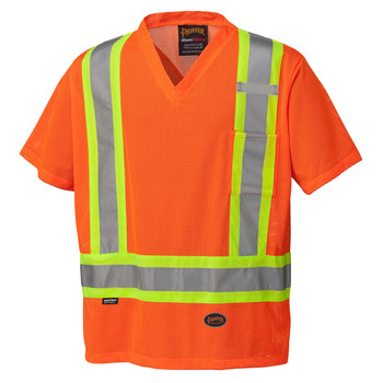 Hi-Viz Orange -  5994 Hi-Viz Traffic T-Shirt | Safetywear.ca