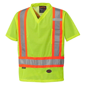 Pioneer 5997 Poly Mesh Safety Shirt - Hi-Viz Yellow/Green | Safetywear.ca