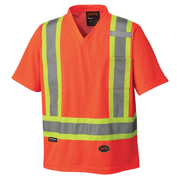 Hi-Viz Orange - 6979 Hi-Viz Traffic Micro Mesh T-Shirt | Safetywear.ca