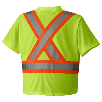 Hi-Viz Yellow/Green 6989 Hi-Viz Traffic Micro Mesh T-Shirt | Safetywear.ca