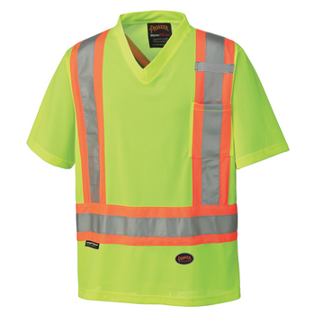 Hi-Viz Yellow/Green 6989 Hi-Viz Traffic Micro Mesh T-Shirt | Safetywear.ca