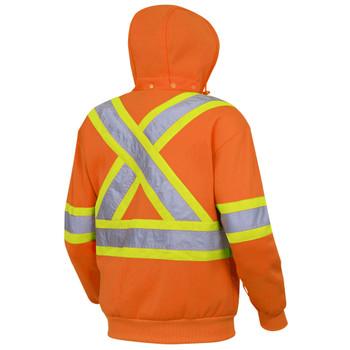 Pioneer 6924 Hi-Viz Polyester Fleece Hoodie - Hi-Viz Orange   Safetywear.ca