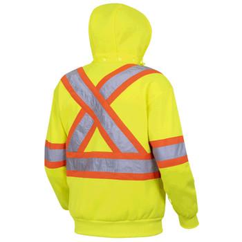 Pioneer 6925 Hi-Viz Polyester Fleece Hoodie - Hi-Viz Yellow/Green   Safetywear.ca