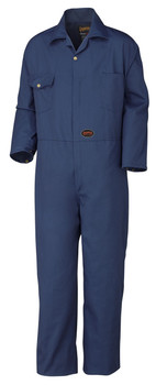 Pioneer 515T Poly/Cotton Coverall - Navy (Tall) | SafetyWear.ca