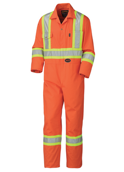 Pioneer 5514T Safety Poly/Cotton Coverall - HI-Viz Orange (Tall) | Safetywear.ca