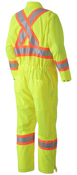 Pioneer 5999A Traffic Safety Coverall - Hi-Viz Yellow/Green | Safetywear.ca