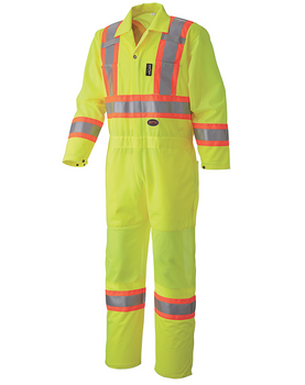 Hi-Viz Yellow/Green - 5999A Hi-Viz Traffic Coverall, Back