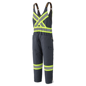 Pioneer 5536 Quilted Cotton Duck Safety Overall - Navy   Safetywear.ca