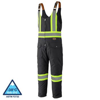 Pioneer 5536BK Safety Quilted Cotton Duck Overalls - Black   Safetywear.ca