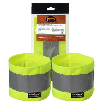 "143A Adjustable Reflective Ankle Bands 18"" x 4"" - pair  