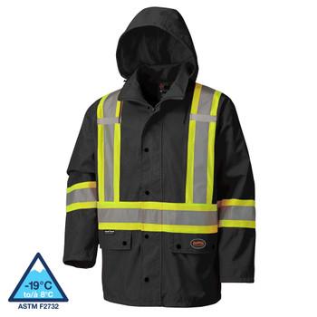 Pioneer 5585BK 450D Hi-Viz 100% Waterproof Jacket | Safetywear.ca
