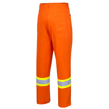 Back - 4461 Hi-Viz Cotton Safety Pant | Safetywear.ca