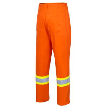 Back - 4461 Hi-Viz Cotton Safety Pant   Safetywear.ca