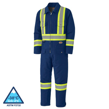 Pioneer 5539A Quilted Cotton Duck Safety Coverall - Navy | Safetywear.ca