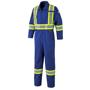 Royal - 7706 Royal FR-Tech™ Flame Resistant 7 oz Hi-Viz Safety Coverall with Leg Zippers | Safetywear.ca