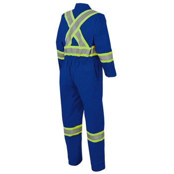 Royal, Back - 7706T Royal FR-Tech™ Flame Resistant 7 oz Hi-Viz Safety Coverall with Leg Zippers