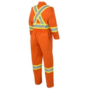 Safety Orange - 7705 Safety Orange FR-Tech™ Flame Resistant 7 oz Hi-Viz Safety Coverall with Leg Zippers | SafetyWear.ca