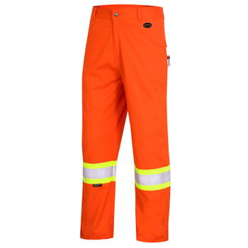 Pioneer 7763 FR-Tech® Flame Resistant/ARC Rated 7 oz Safety Pant - HI-Viz Orange | Safetywear.ca