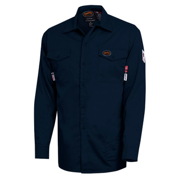 Navy - 7742 FR-Tech® Flame Resistant 7 oz Safety Shirt | SafetyWear.ca