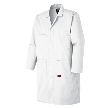 White - 518 Poly/Cotton Shop Coat  | SafetyWear.ca