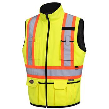 Hi-Viz Yellow/Green - 6689 Hi-Viz Reversible Insulated Safety Vest | SafetyWear.ca