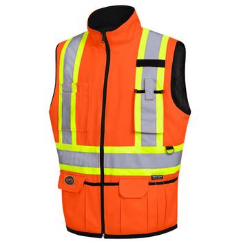 Hi-Viz Orange - 6688 Hi-Viz Reversible Insulated Safety Vest | SafetyWear.ca
