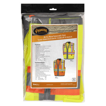Yellow/Green - 6675 Pioneer Hi-Viz Mesh Surveyor's Vests - Poly Mesh | Safetywear.ca