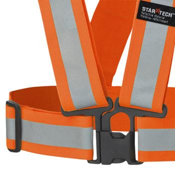 Pioneer 5591A Adjustable 4-Point Tear-Away Safety Sash - Hi-Viz Orange (5-Pack) | Safetywear.c