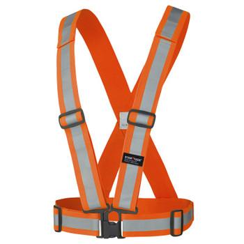 Pioneer 5591A Adjustable 4-Point Tear-Away Safety Sash - Hi-Viz Orange (5-Pack) | Safetywear.ca