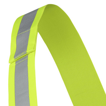 Pioneer 5592A Adjustable 4-Point Tear-Away Safety Sash - Hi-Viz Yellow/Green (5-Pack) | Safetywear.ca