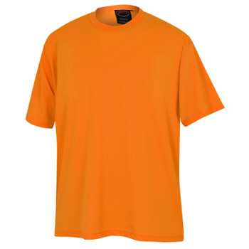 Orange - 6660 Pioneer Birdseye Safety Work T-Shirt - Birdseye Poly | Safetywear.ca