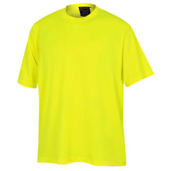 Yellow/Green - 6661 Pioneer Birdseye Safety Work T-Shirt - Birdseye Poly | Safetywear.ca