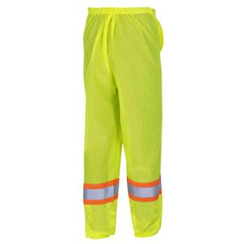 Yellow/Green - 5670 Pioneer Hi-Viz Traffic Safety Pants - Poly Mesh - Mesh Leg Panels   Safetywear.ca